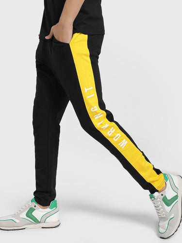 Premium Black and Yellow Side Street Joggers Rs. 1299 | Book for Rs. 31 only