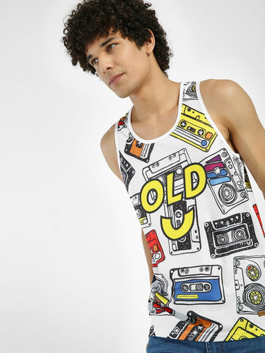 Full Print Retro casette Tank Tee Rs. 599 | Book for Rs. 31 only