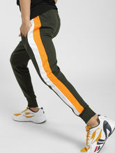 Olive Green side Yellow white Strip Joggers Rs. 1200 | Book for Rs. 31 only