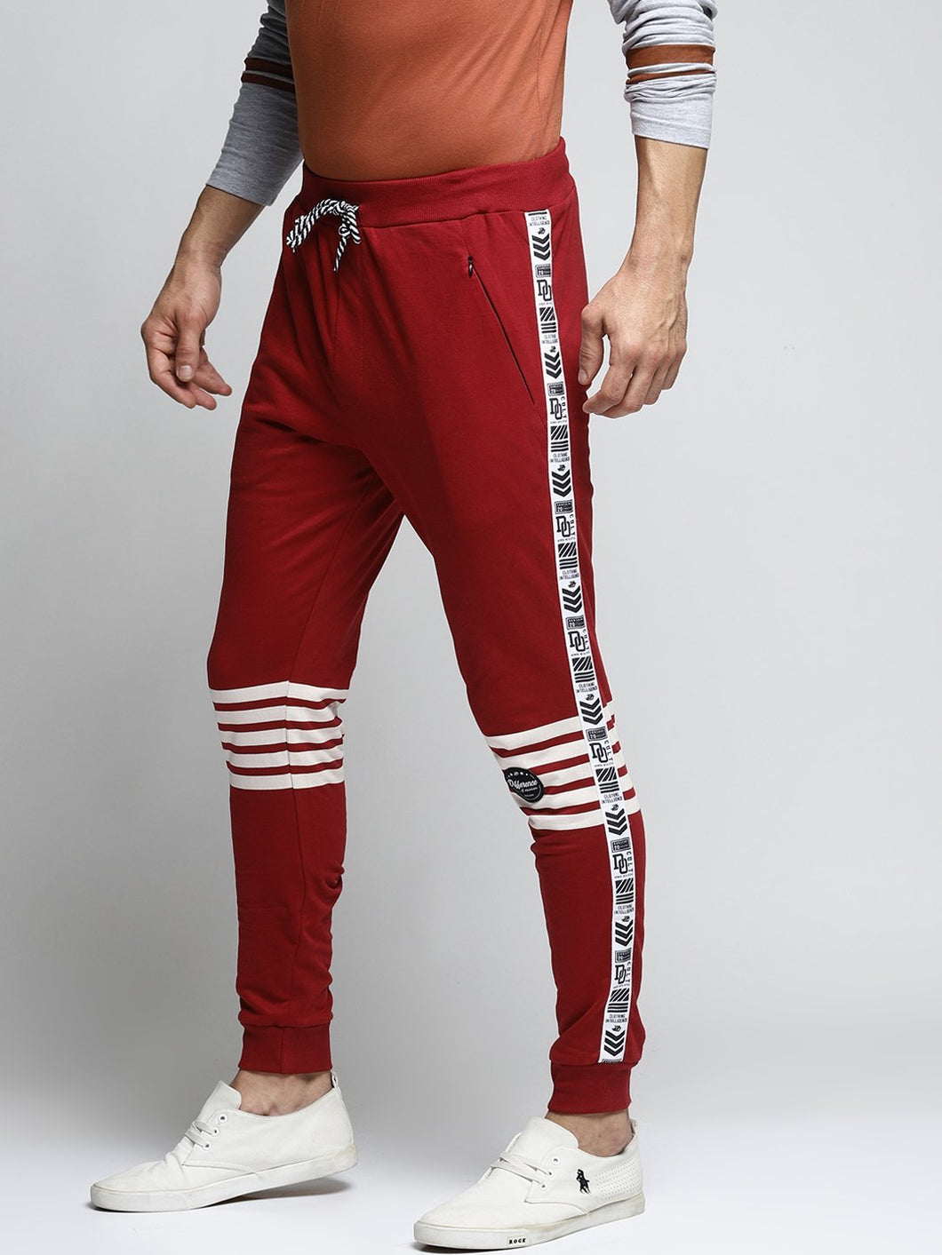 Men Maroon Slim-Fit Joggers PRICE : Rs.599 | Book For Rs.31 Only