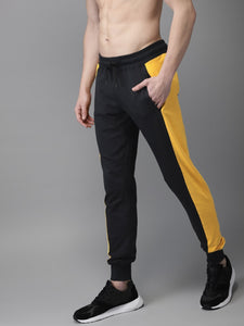Men Black & Yellow Colour blocked Joggers PRICE : Rs.699 | Book For Rs.31 Only