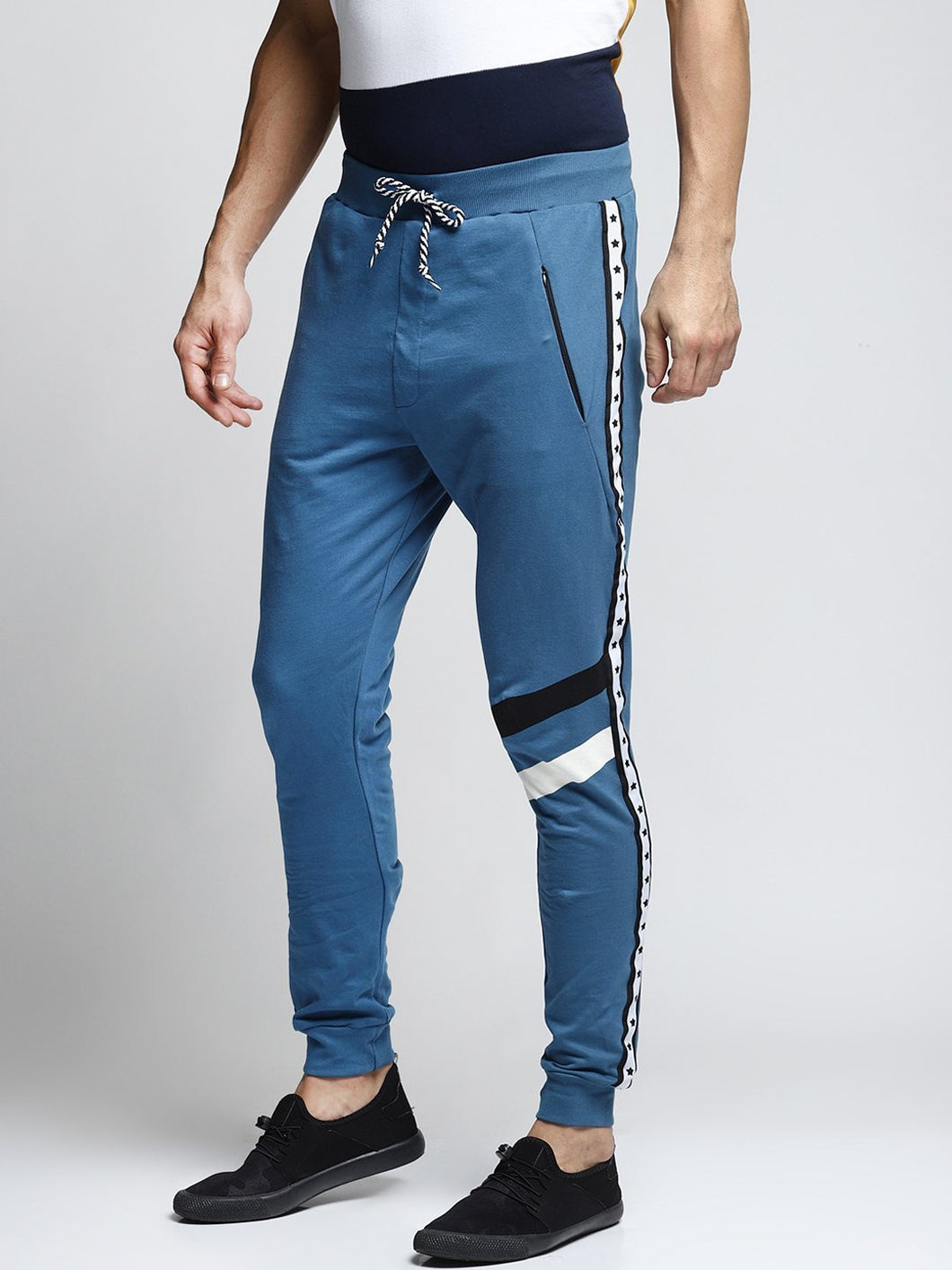 Men Blue Solid Straight-Fit Joggers PRICE : Rs.599 | Book For Rs.31 Only