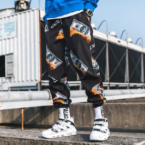 Full Print Money Premium Joggers - 100% Cotton Street Wear