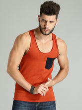 Orange Pocket Tank Tee PRICE: Rs. 310 | Book for Rs. 31 only