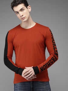 Long sleeve Burnt Orange premium Tee PRICE: Rs. 499 | Book for Rs. 31 only