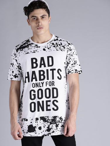 Bad Habits Tee Print PRICE: Rs. 639 | Book for Rs. 31 only