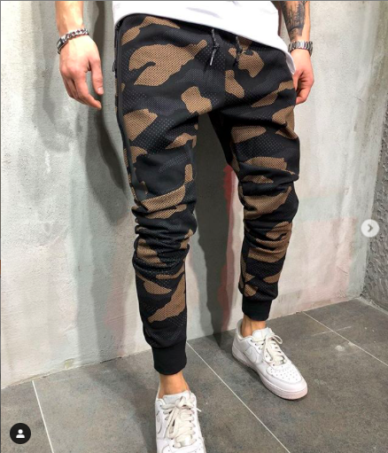 Olive Camouflage Premium Joggers - 100% Cotton Street Wear