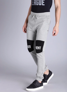Premium Grey Knee Print Joggers PRICE : Rs.599 | Book For Rs.31 Only