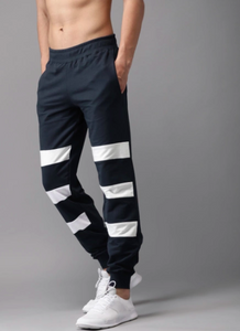 White and blue striped Joggers PRICE : Rs.799 | Book For Rs.31 Only