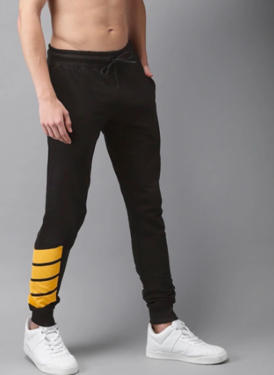 Black and yellow striped Joggers PRICE : Rs.799 | Book For Rs.31 Only