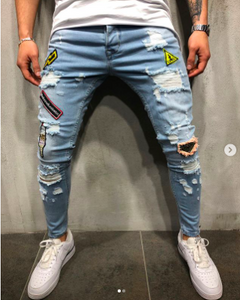 Patch Print Premium Jeans - 100% Premium Denim