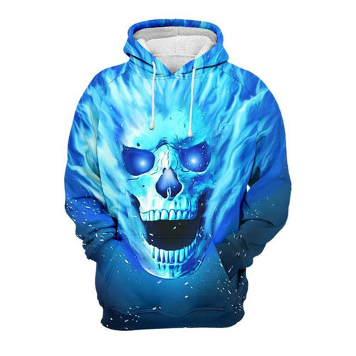 3D Skull Ince Magic Hoodie - 24 Hour Clearance Sale
