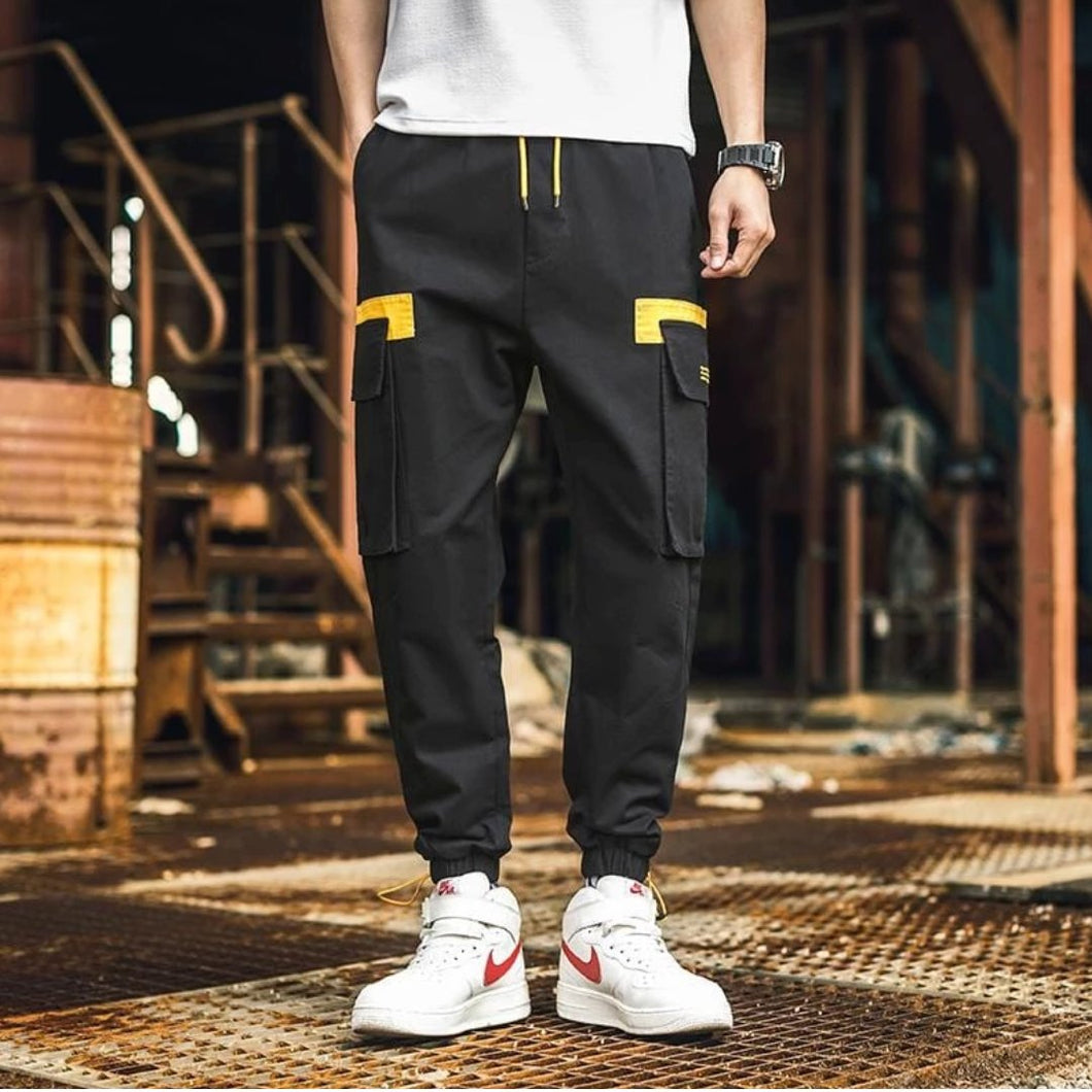 Black Street Two Premium Joggers - 100% Cotton Street Wear 24 Hour Clearance Sale