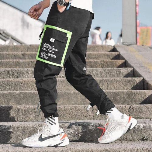Black Neon Joggers V21 100% Cotton Street Wear 24 Hour Clearance Sale