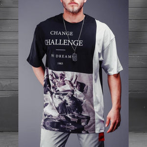 Full Print challange T-Shirt- Premium Wear on Discount