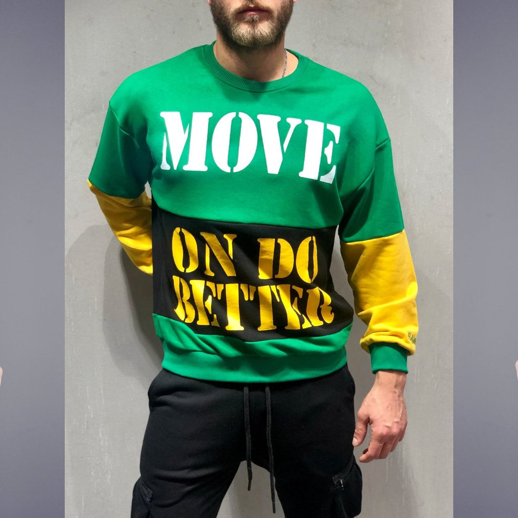 Green Move n Better Long Sleeve T-Shirt- Premium Wear on Discount