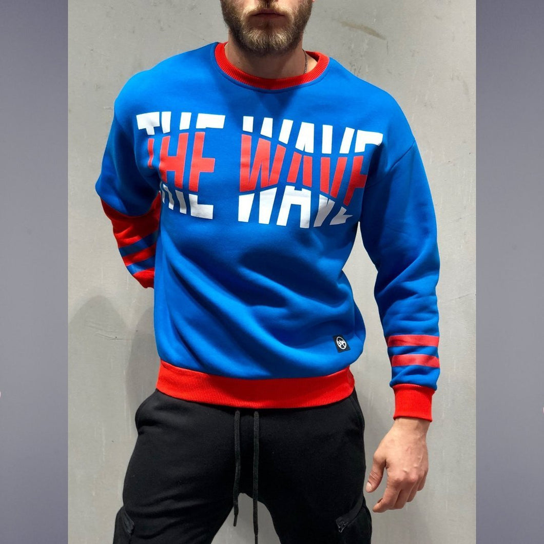 The Wave Blue Long Sleeve T-Shirt- Premium Wear on Discount