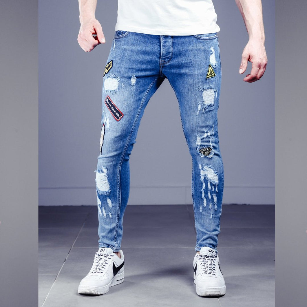 Patch premium denim jean - 100% Street Wear