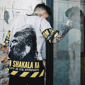 Shakalaka White Hip Hop T-Shirt - Premium Wear on Discount