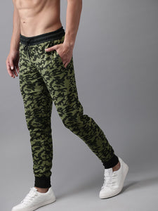 Men Olive Green & Black Camouflage Printed Joggers PRICE : Rs.849 | Book For Rs.31 Only