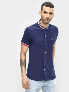 Baseball Navy Blue Shirt | PRICE: Rs. 899 | Book for Rs. 31 only
