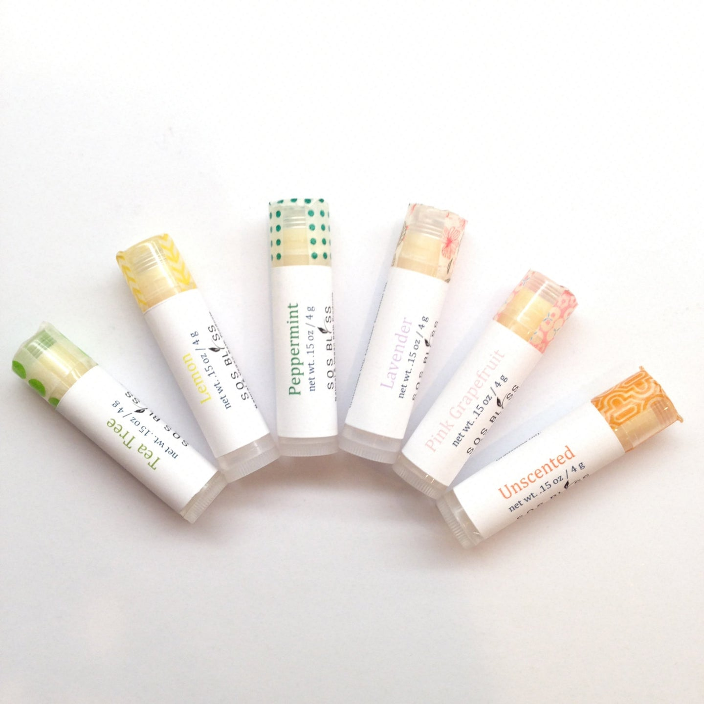6 piece lip balm gift set Creamy and nourishing