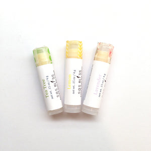 "3 piece lip balm gift set Creamy and nourishing ""vegan"" lip balm, with no add preservatives and no animal by-products, and only essential oil flavoring"