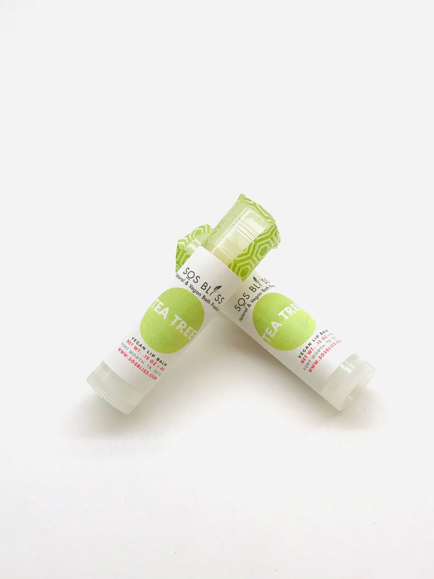 Tea Tree Lip Balm Clear in color Essential Oil Base