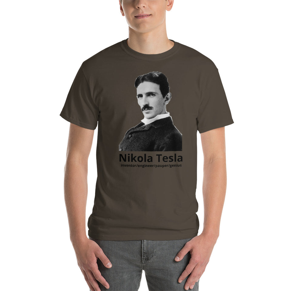 Nikola Tesla - positively genius T-Shirts