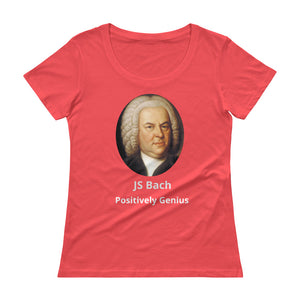Ladies' Bach Scoopneck T-Shirt - positively genius T-Shirts