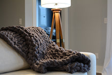 Load image into Gallery viewer, Chunky Knit Blanket in Dark Gray