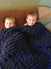 Load image into Gallery viewer, Chunky Knit Blanket in Navy