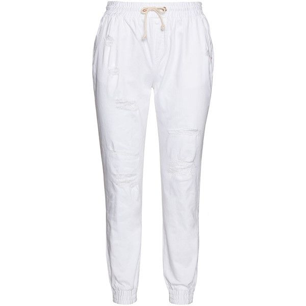 17 Sundays white joggers