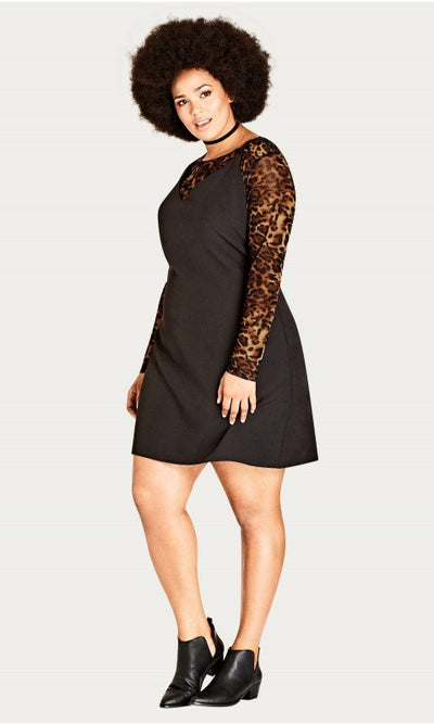 City Chic Leopard Dress