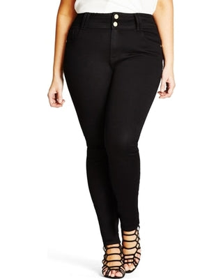 city chic black skinny jeans