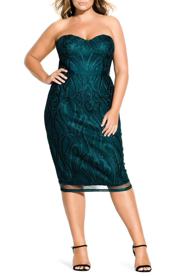 New // CITY CHIC 'Antonia Dress - Emerald' // Size 22