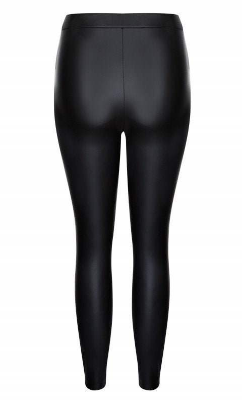 Asha Wetlook Jegging - black