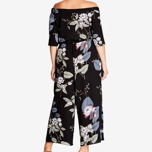 CITY CHIC BLOSSOM OFF-SHOULDER JUMPSUIT
