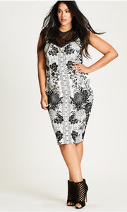 New // CITY CHIC 'Baroque Sheath' Dress // Sizes 18 & 22