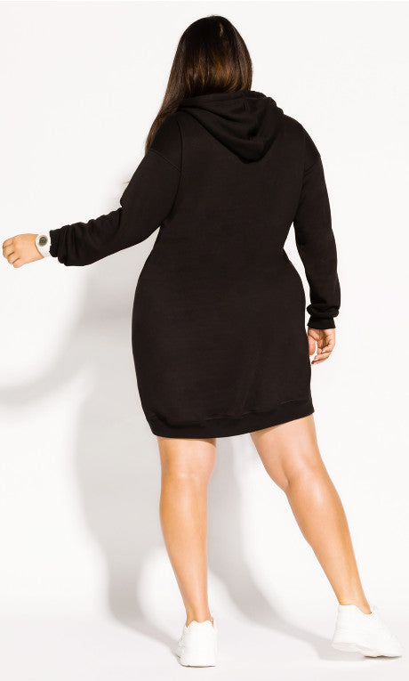 city chic luxe hoodie plus size dress