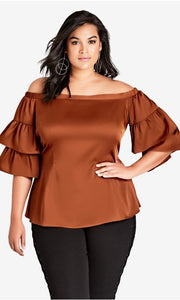 city chic off shoulder top plus size nz