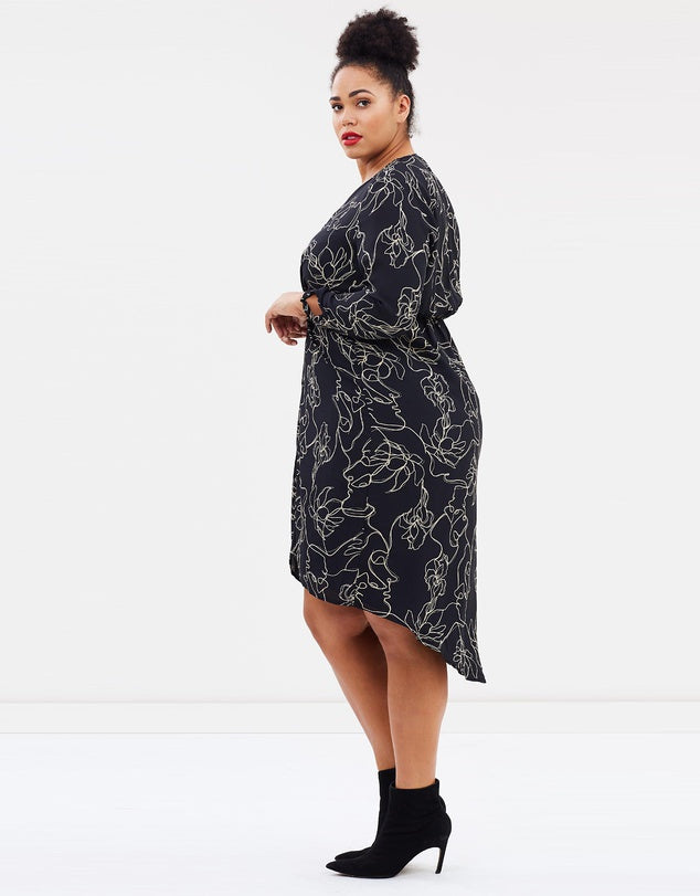 New // ATMOS&HERE CURVY 'Charlotte Knot Midi Dress' // Size 22