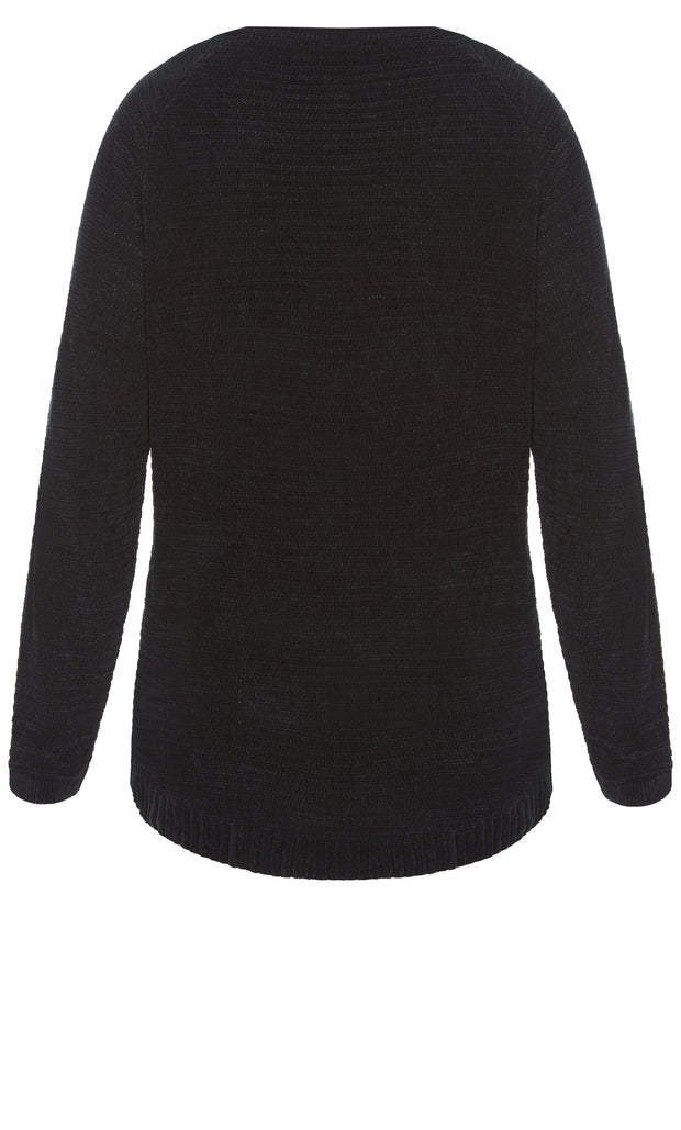 City Chic Plus Size Sweater Black