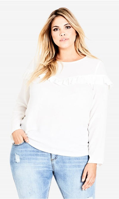 city chic sweetly frill top nz