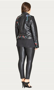 City Chic Wetlook Jeggings