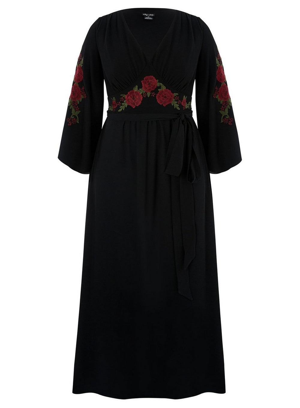 City Chic Black Adorned Maxi Dress