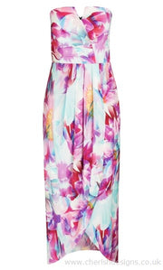 New // CITY CHIC 'Bright Bouquet' Dress // Size 14 (Comes With Optional Straps)