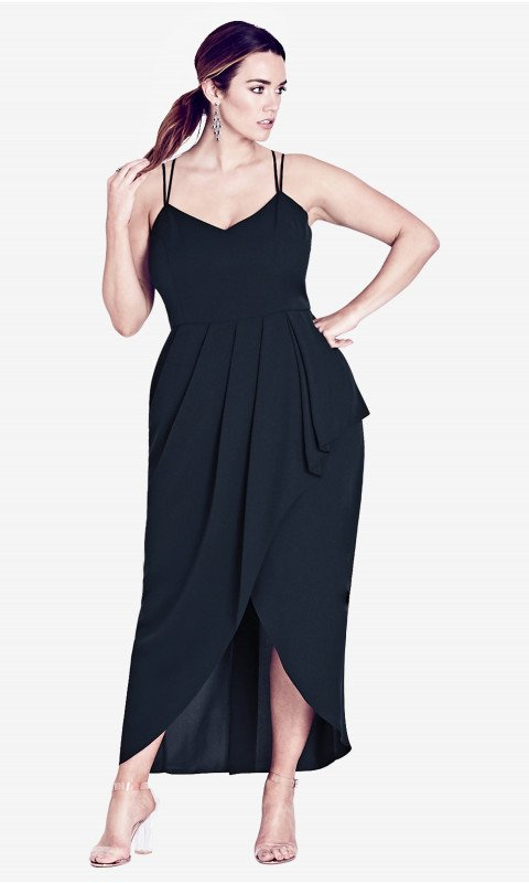 City Chic Navy Blue Romance Maxi Dress