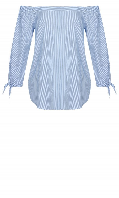 City Chic Pinstripe Top