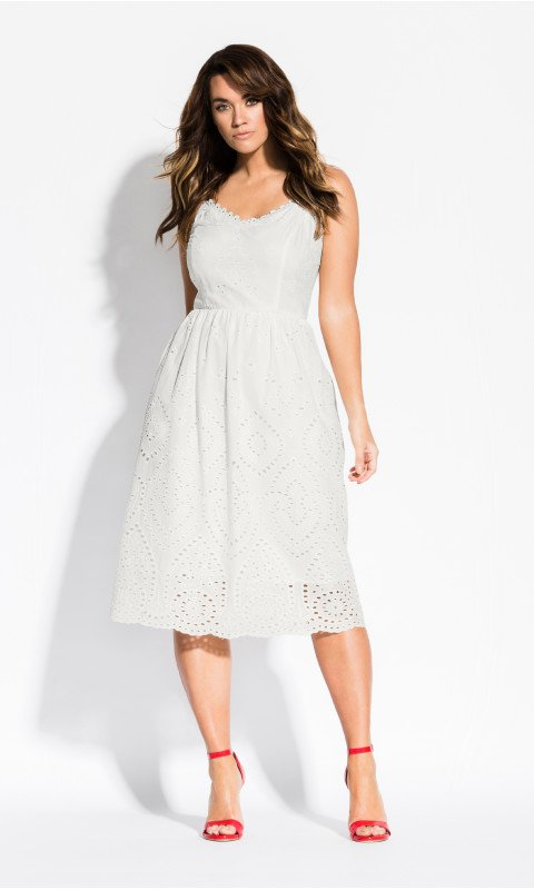 City Chic white dress